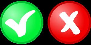 zerar: imagem de um sticker positivo na cor verde e outro negativo na cor vermelha