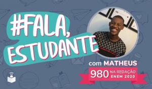 Fala estudante: capa com imagem do Matheus